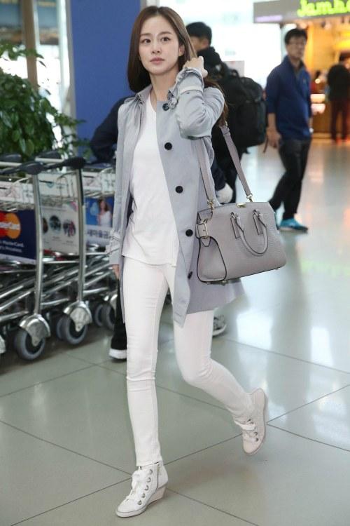 6ba372669 أزياء Kim Tae hee فى المطار أنيقة و عصرية مع ماركة Burberry | Kdrama ...